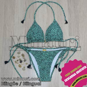 Swimwear Pattern triangle bikini 01